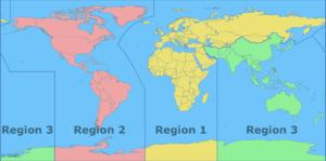ITU Region Map