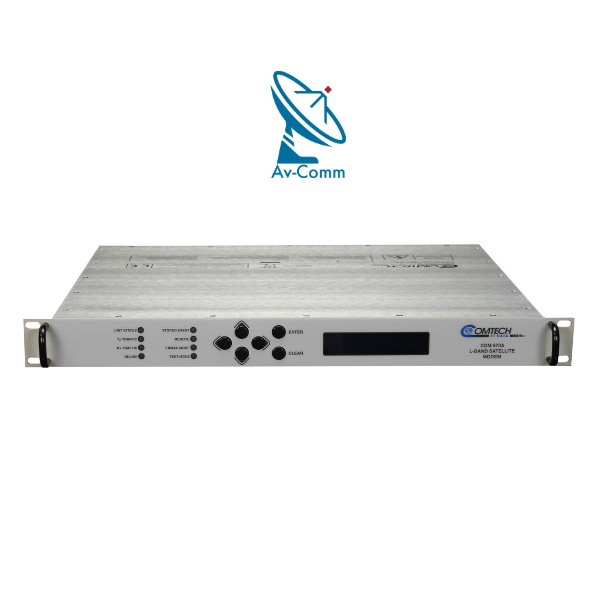 Comtech CDM-570A Satellite Modem Front Panel v2