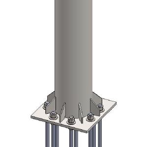 Baird-10.75-273.0mm-O.D.-SCH-80-COLLAR-King-Post-Pedestal-Mount