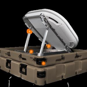 Kymeta u8 GO Rapid Deploy Flyaway Antenna