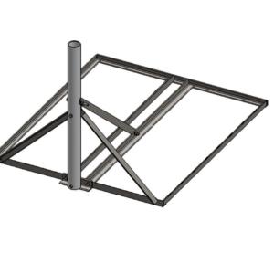 Baird B3-34 x 40 Non-Pentrating mount 3.0 OD mast