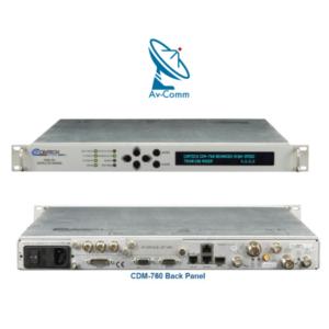 Comtech CDM-760 Satellite Modem Front and Rear Panel v2