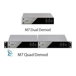 Datum M7D IF & M7LD L Band Compact Satellite Dual Demodulators v2
