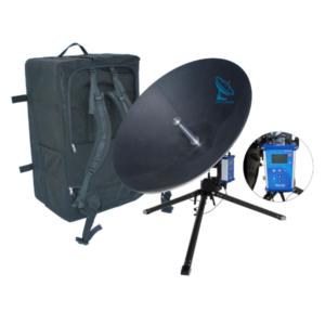 iNetVu MP-100-MOT Series 100cm Ku Band Manpack v2