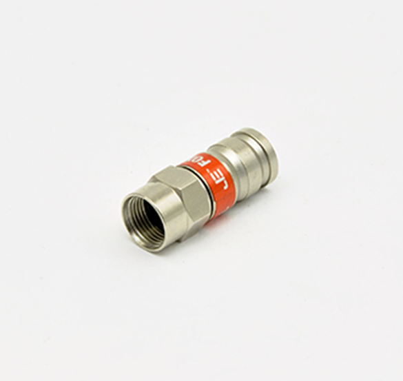 Premium F Type Compression Connector for RG-6 Coax Cable